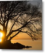 Fiery Sunrise - Like A Golden Portal To Another World Metal Print