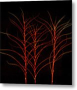 Fiery Trees Metal Print