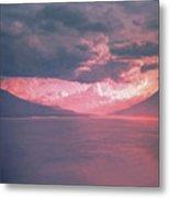 Fiery Volcano Metal Print