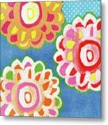 Fiesta Floral 3- Art By Linda Woods Metal Print