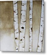 Fifteen Birch Trees Metal Print