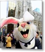 Fifth Ave Easter Bunny Metal Print