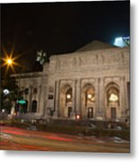 Fifth Avenue And Library Metal Print