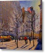 Fifth Avenue - Late Winter At The Met Metal Print