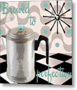 Fifties Kitchen Coffee Pot Perk Coffee Metal Print