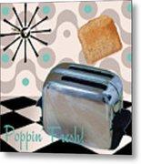 Fifties Kitchen Toaster Metal Print