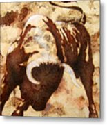 Fight Bull Metal Print