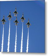 Fighter Attack Metal Print