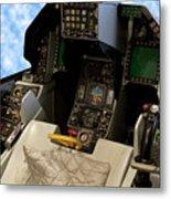 Fighter Jet Cockpit 01 Metal Print