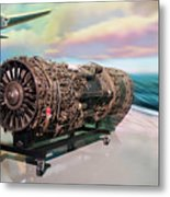 Fighter Jet Engine Metal Print