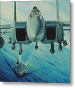 Fighter Jet Metal Print