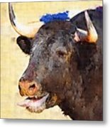 Fighting Bull Metal Print