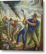 Fighting Forest Fire Metal Print