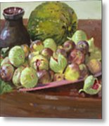 Figs And Cantaloupe Metal Print