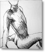 Figure Drawing 1 Metal Print