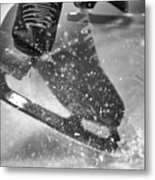 Figure Skating Abstract Metal Print