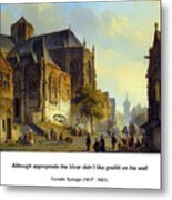 Figures On A Market Square In A Dutch Town 1843 Metal Print