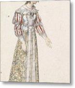 Figurine In Medieval Dress, Metal Print