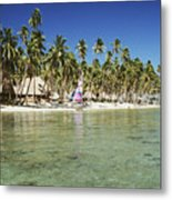 Fiji Resort Metal Print