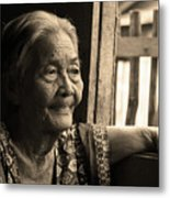 Filipino Lola - Image 14 Sepia Metal Print
