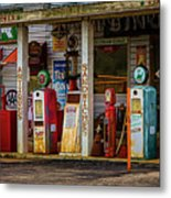 Filling Station Metal Print