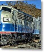 Fillmore And Western Railway Christmas Train 3 Metal Print