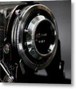 Film Camera In Black Metal Print