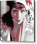 Film Homage Collage Eugene Robert Richee Photo Clara Bow 1 Circa 1927-2013 Metal Print