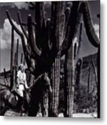 Film Homage Jean Harlow Bombshell 1933 Saguaro National Monument Tucson  Arizona  Duo-tone 2008 Metal Print