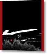 Film Noir Homage Robert Mitchum Blood On The Moon 1948 Rising Moon 2 Casa Grande Arizona 2005-2008 Metal Print