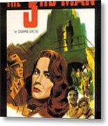Film Noir Poster  The Third Man Metal Print