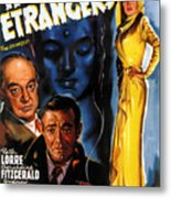 Film Noir Poster Three Strangers Metal Print