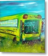 Final Bus Stop  Metal Print by Steve Jorde