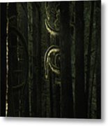 Final Light In Woods Metal Print