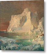 Final Study For The Icebergs Metal Print