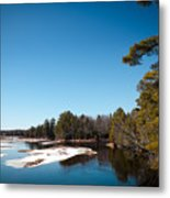 Final Winter Days On The Moose River Metal Print