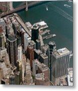 Financial District Nyc Aerial Photo Metal Print