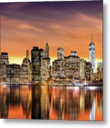 Financial District Sunset Metal Print