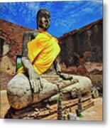 Finding, Not Seeking At Wat Worachetha Ram In Ayutthaya, Thailand Metal Print