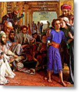 Finding The Savior In The Temple Metal Print