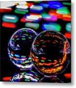 Finger Light Painted Glass Ball Abstract Metal Print