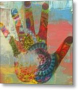 Finger Paint Metal Print