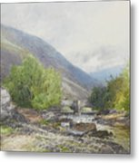 Fingle Bridge On The Teign Metal Print