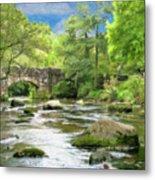 Fingle Bridge - P4a16007 Metal Print