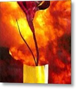 Fire And Flower Metal Print