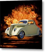 Fire And Rain Metal Print