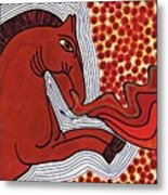 Fire Breathing Horse Metal Print
