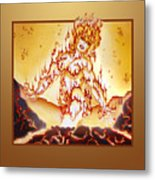 Fire Elemental Metal Print
