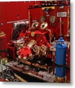 Fire Engine Of Old 17 Metal Print