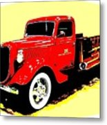 Fire Engine Ok Metal Print